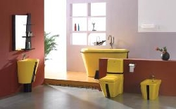 Особенности цветной сантехники