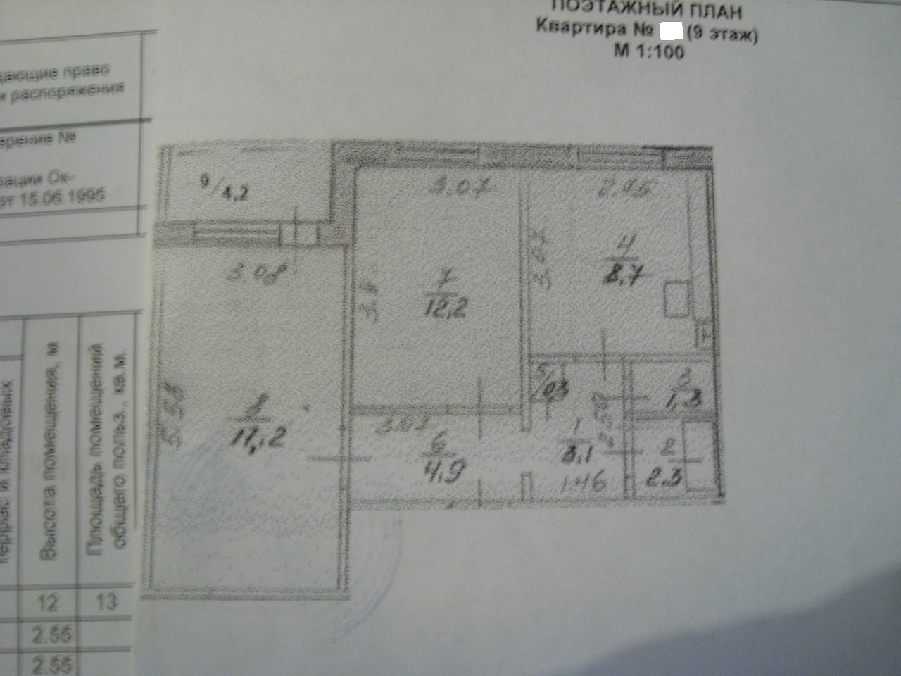 Продам двухкомнатную квартиру 52 кв.м. в Сипайлово
