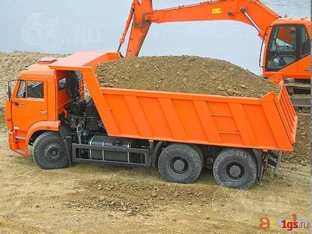 Доставка песка, ПГС, щебень