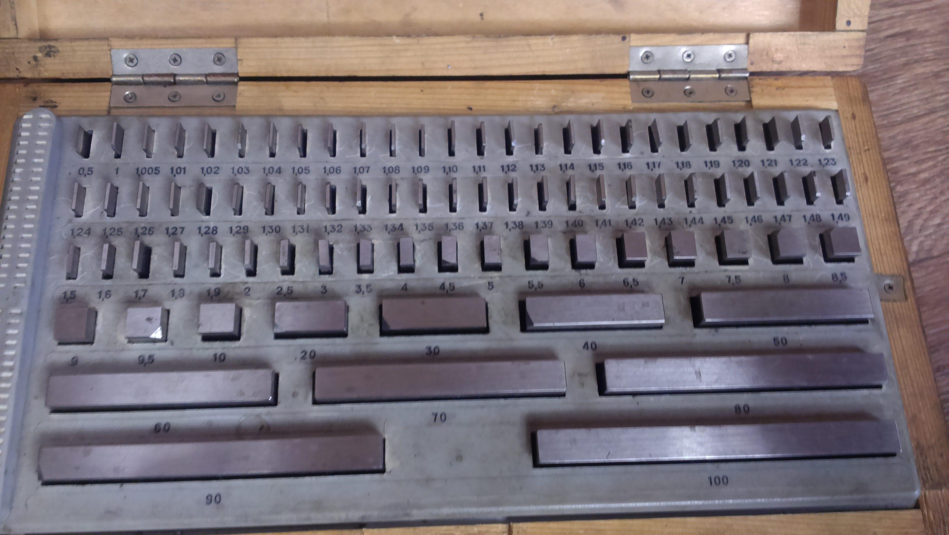 Продам набор мерительных плиток б/у