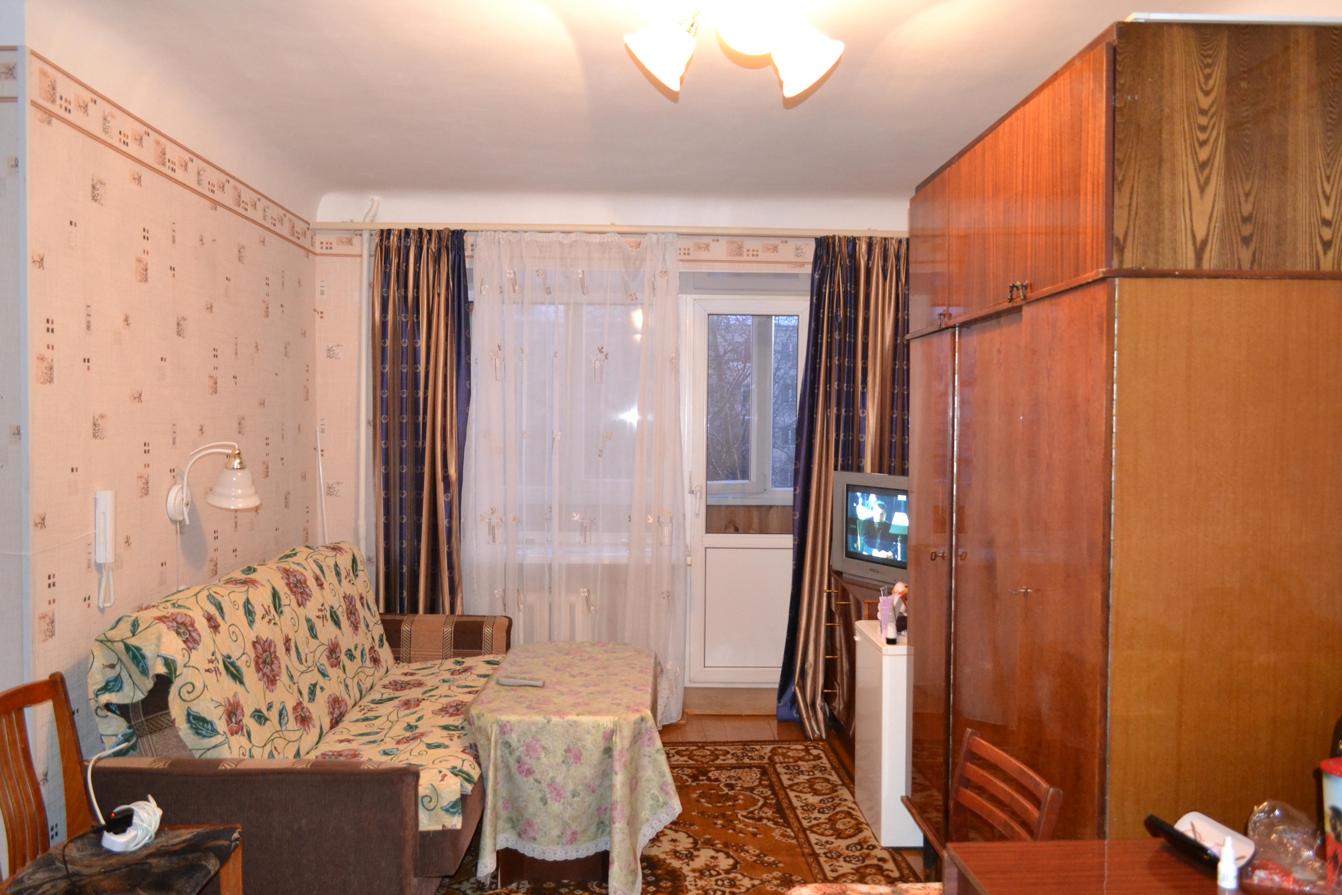1-к квартира 30 м² на 2 этаже 5-этажного кирпичного дома