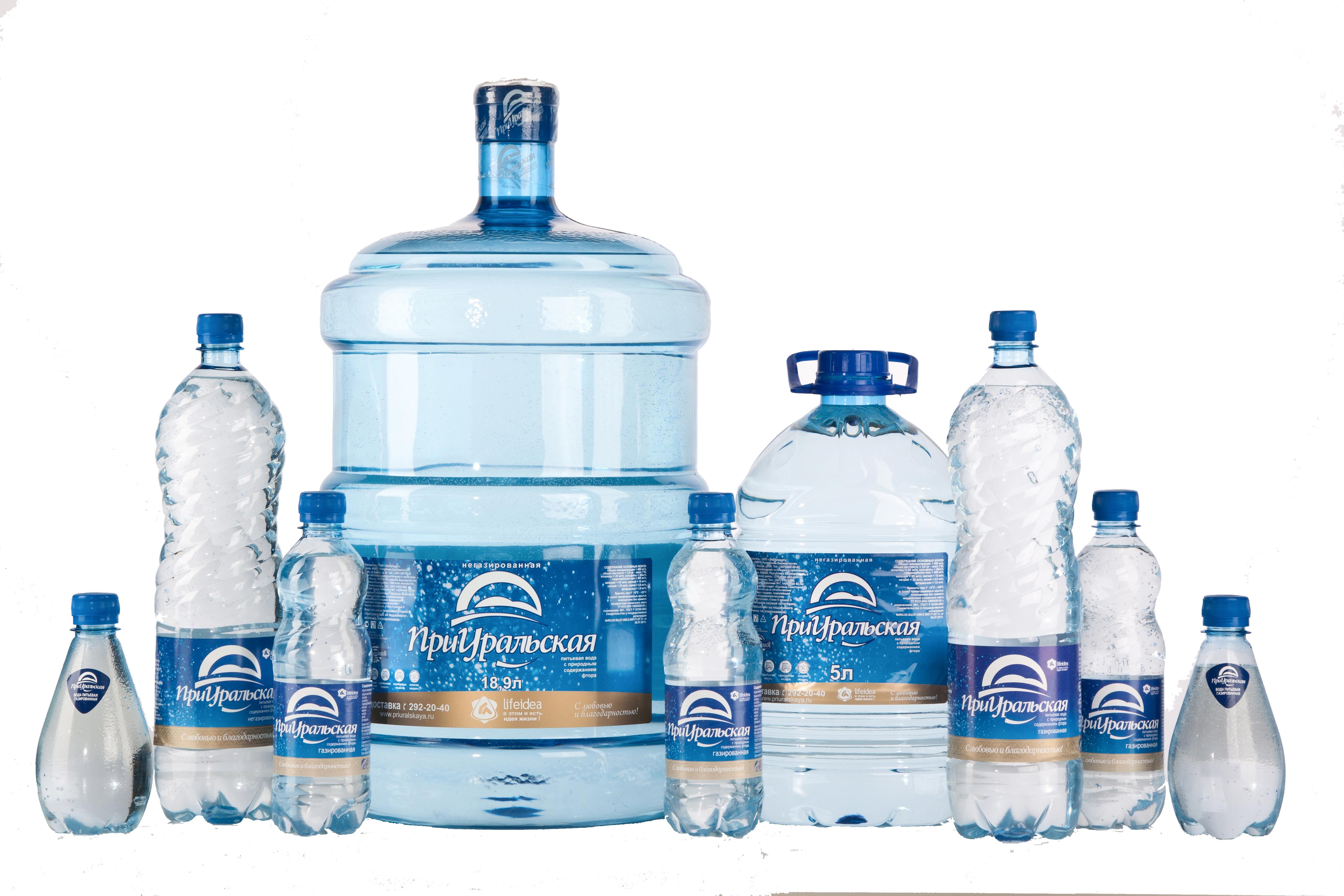 Вода питьевая ПриУральская, доставка в магазины, офисы, домой 0,33 л., 0,5 л., 1,5 л.