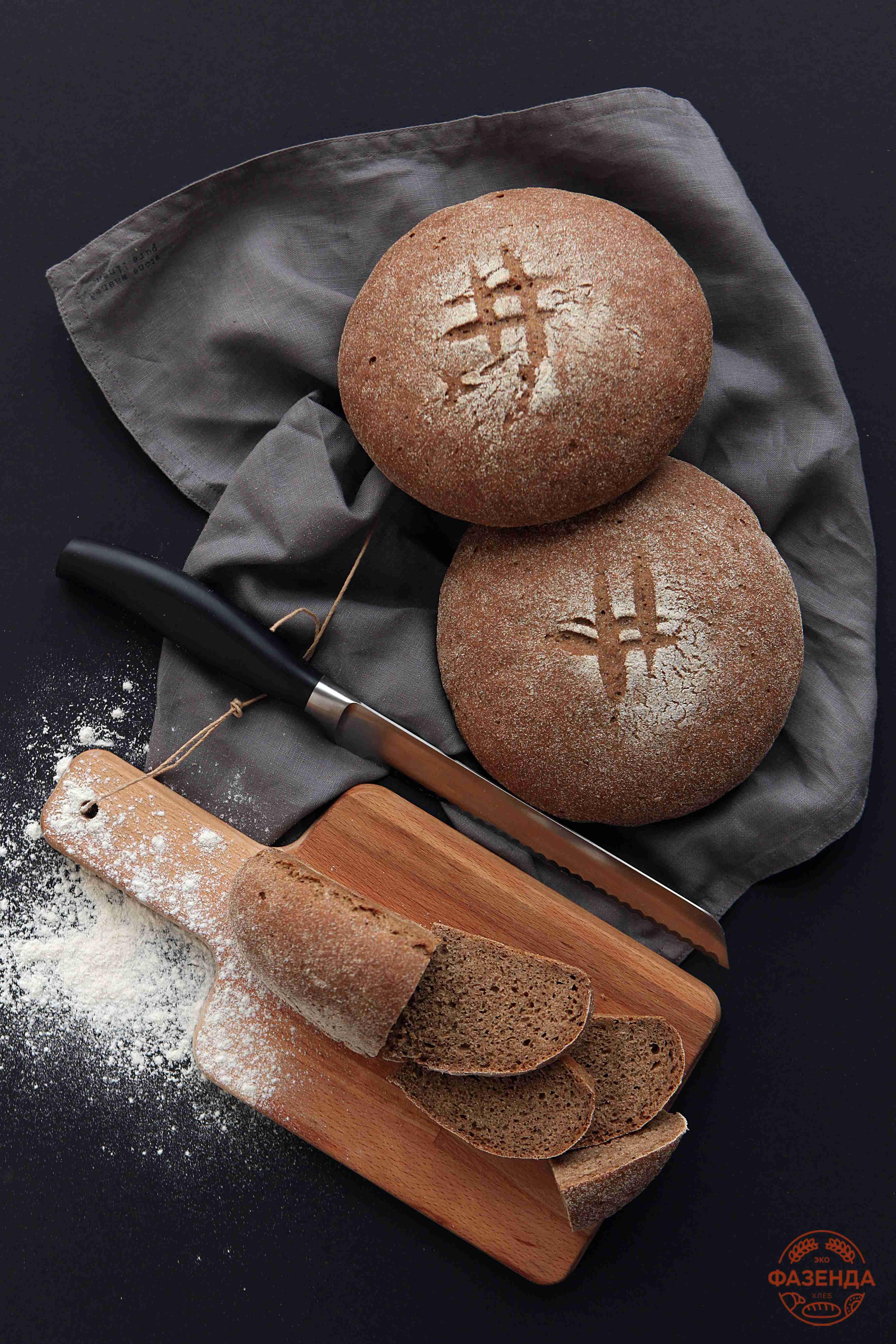 """""""Живой"""" - ржаной хлеб на хмелевой закваске в пекарне """"ЭкоФазенда""""."""