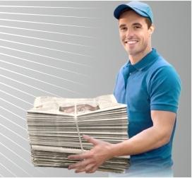Курьер по распространению листовок