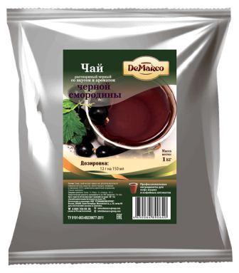 Чай растворимый черный со вкусом и ароматом черной смородины DeMarco