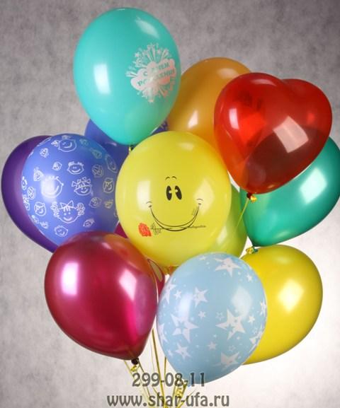 Оформление воздушными шарами в Уфе. Гелиевые шары.
