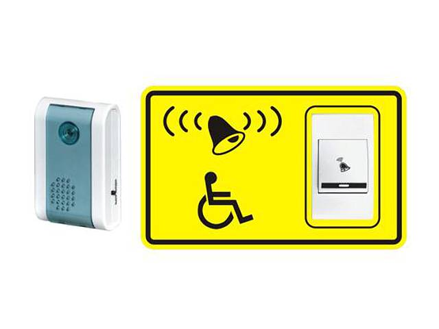 Звонок и табличка для людей с ограниченными возможностями