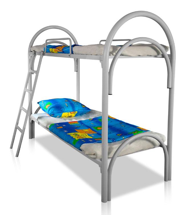 Двухъярусные железные кровати, кровати металлические для интернатов, школ оптом.