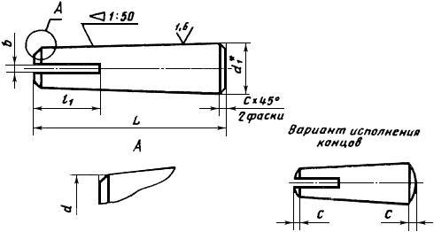 Штифт ГОСТ 19119-80