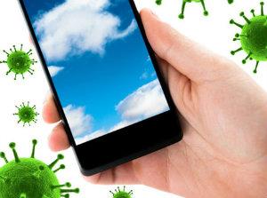 Смартфон  содержит больше бактерий, чем общественный  туалет.