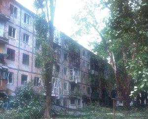 Донбасс под огнем и градом.