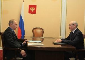 Сегодня в Кремле встретились В.Путин и Р.Хамитов